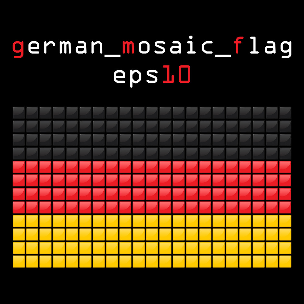 Eps10 Mosaic German Flag