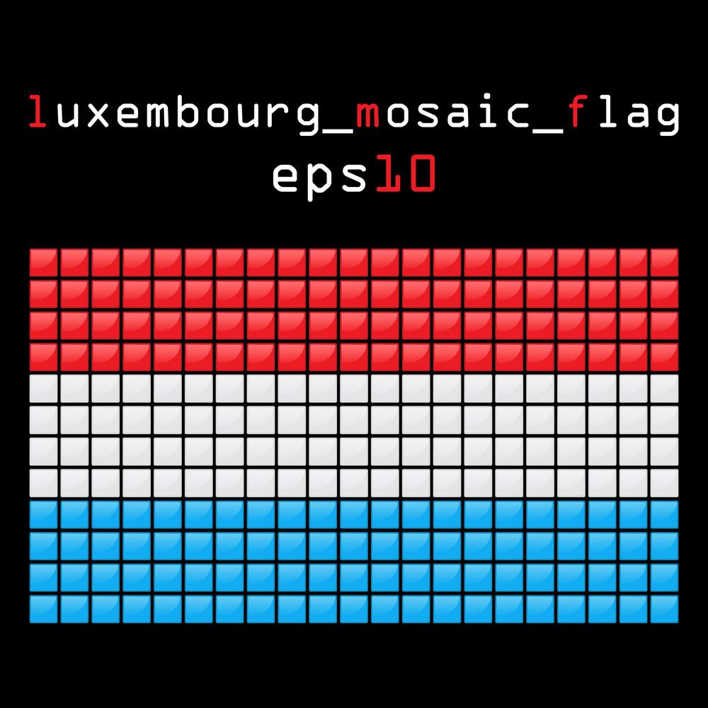Eps10 Mosaic Luxemburg Flag