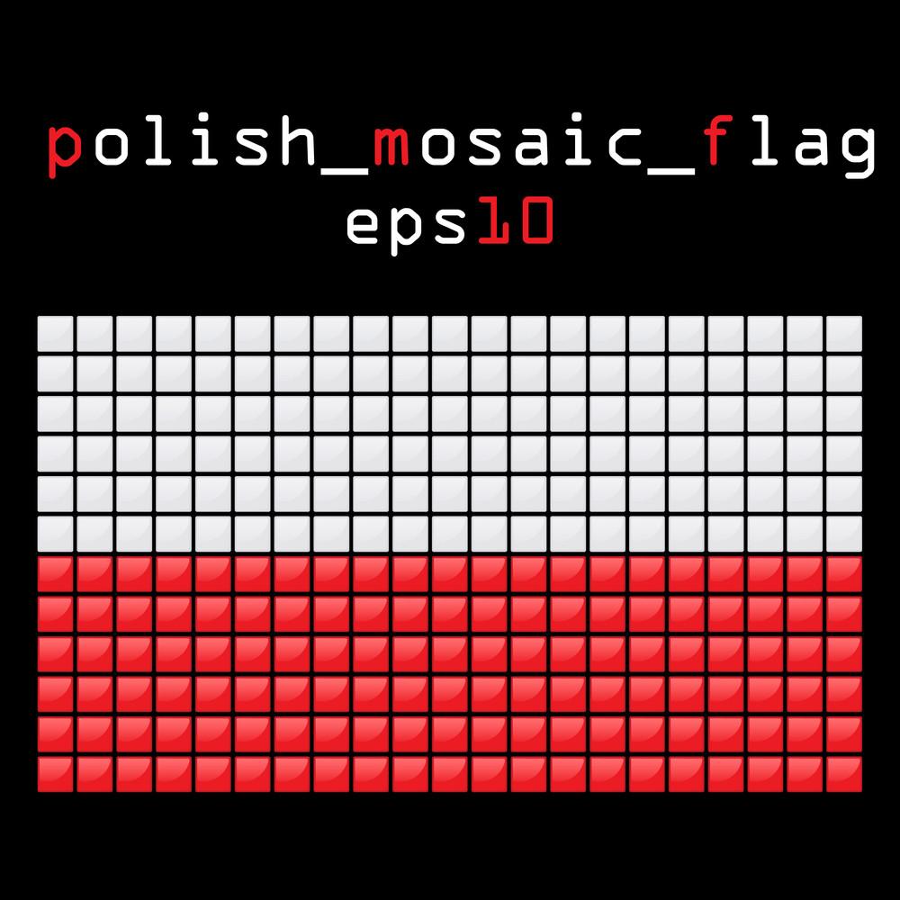 Eps10 Mosaic Polish Flag