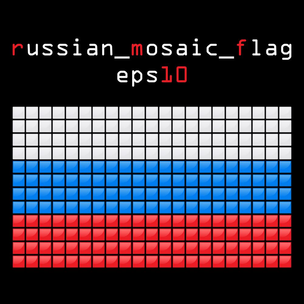 Eps10 Mosaic Russian Flag