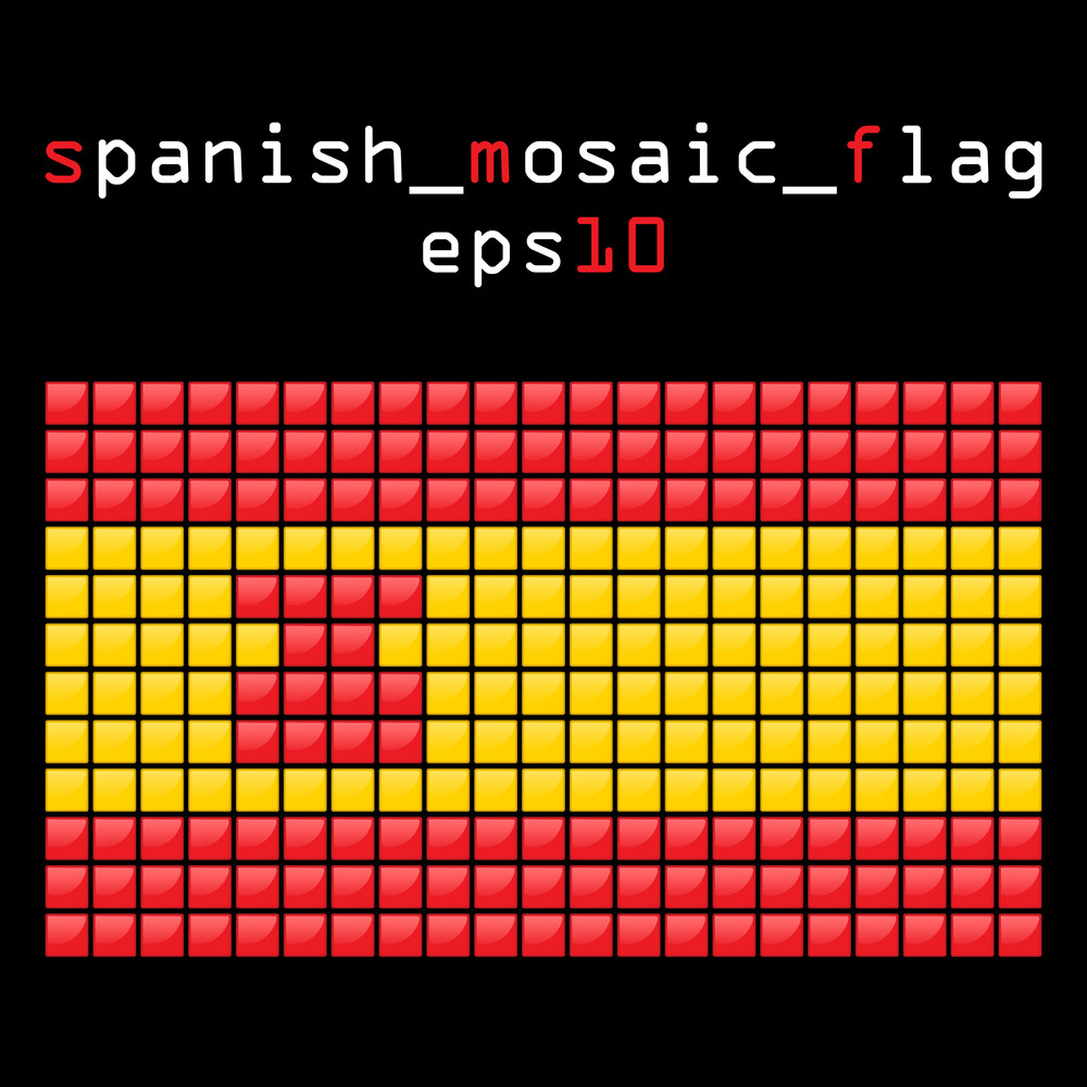 Eps10 Mosaic Spanish Flag