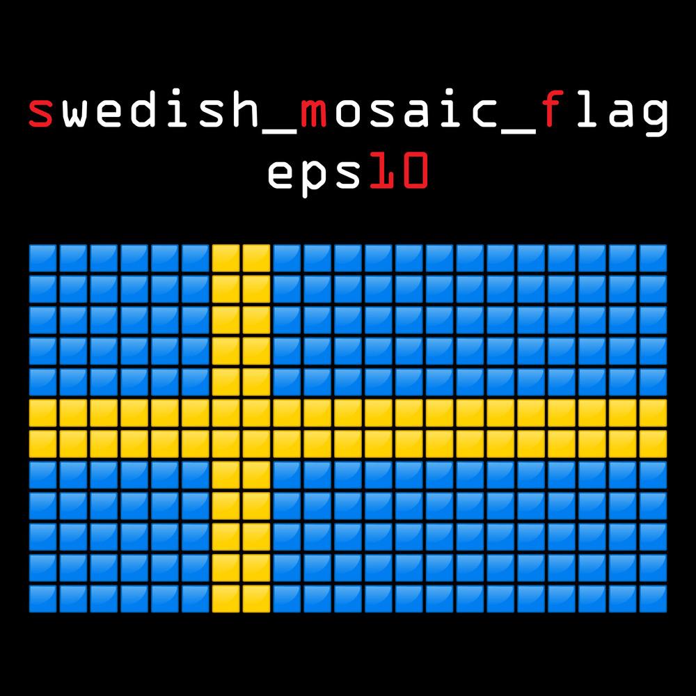 Eps10 Mosaic Swedish Flag