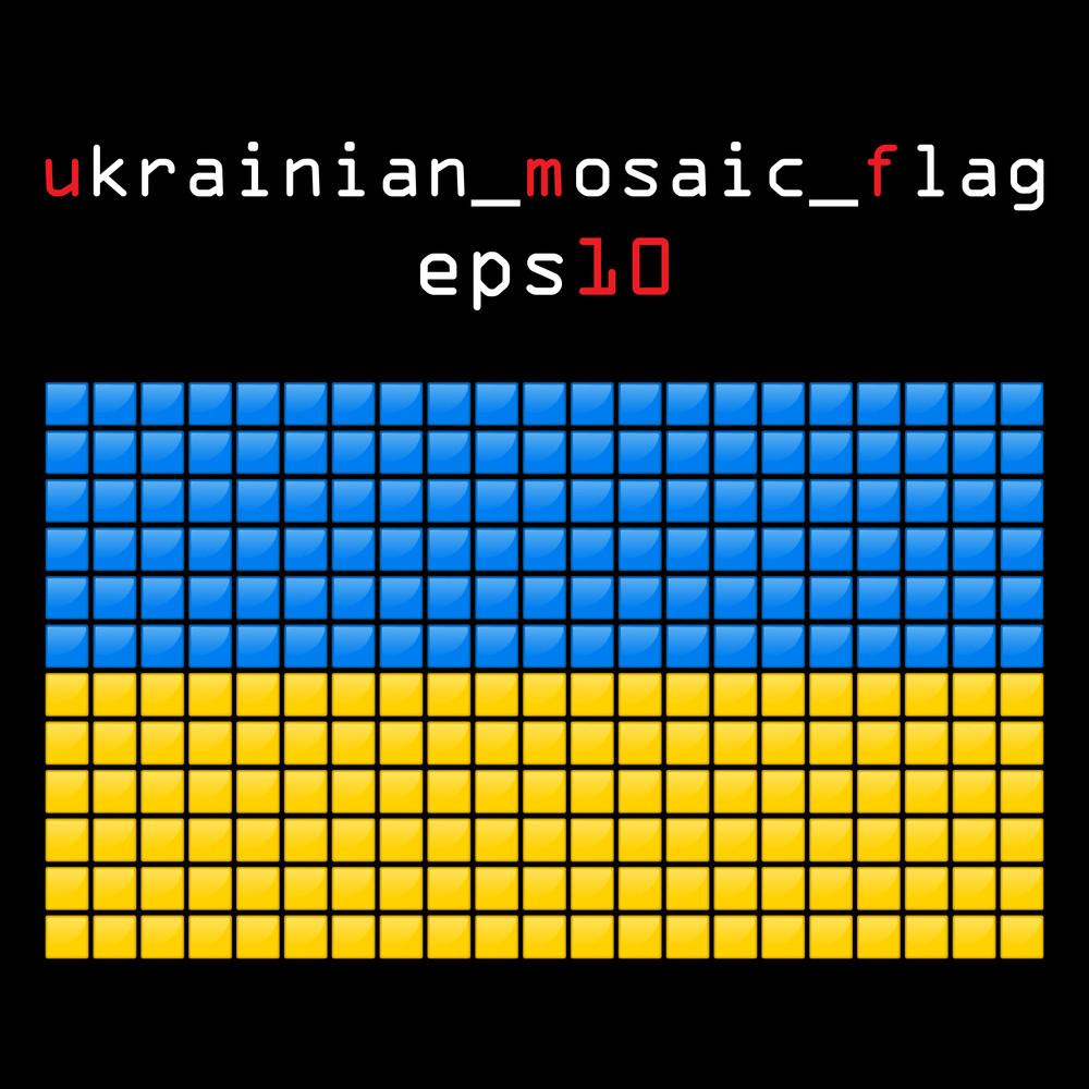 Eps10 Mosaic Ukrainian Flag