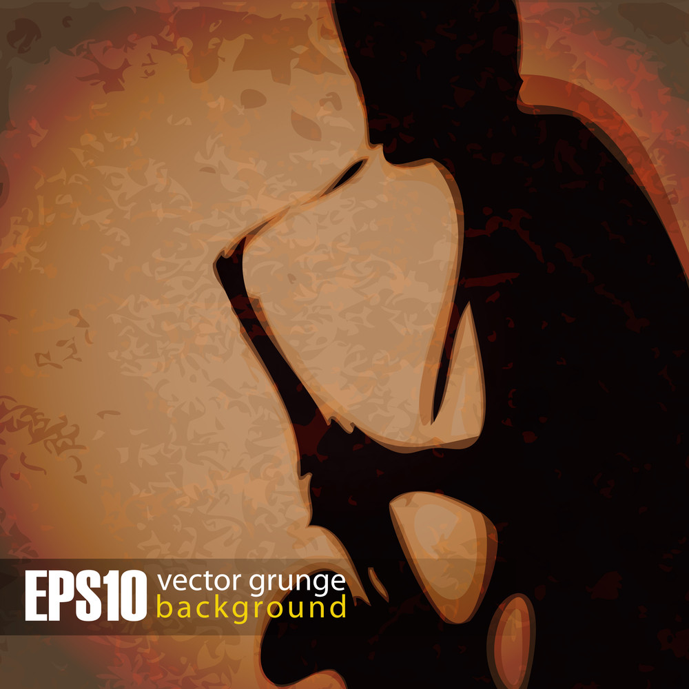 Eps10 Vintage Background Saxophonist