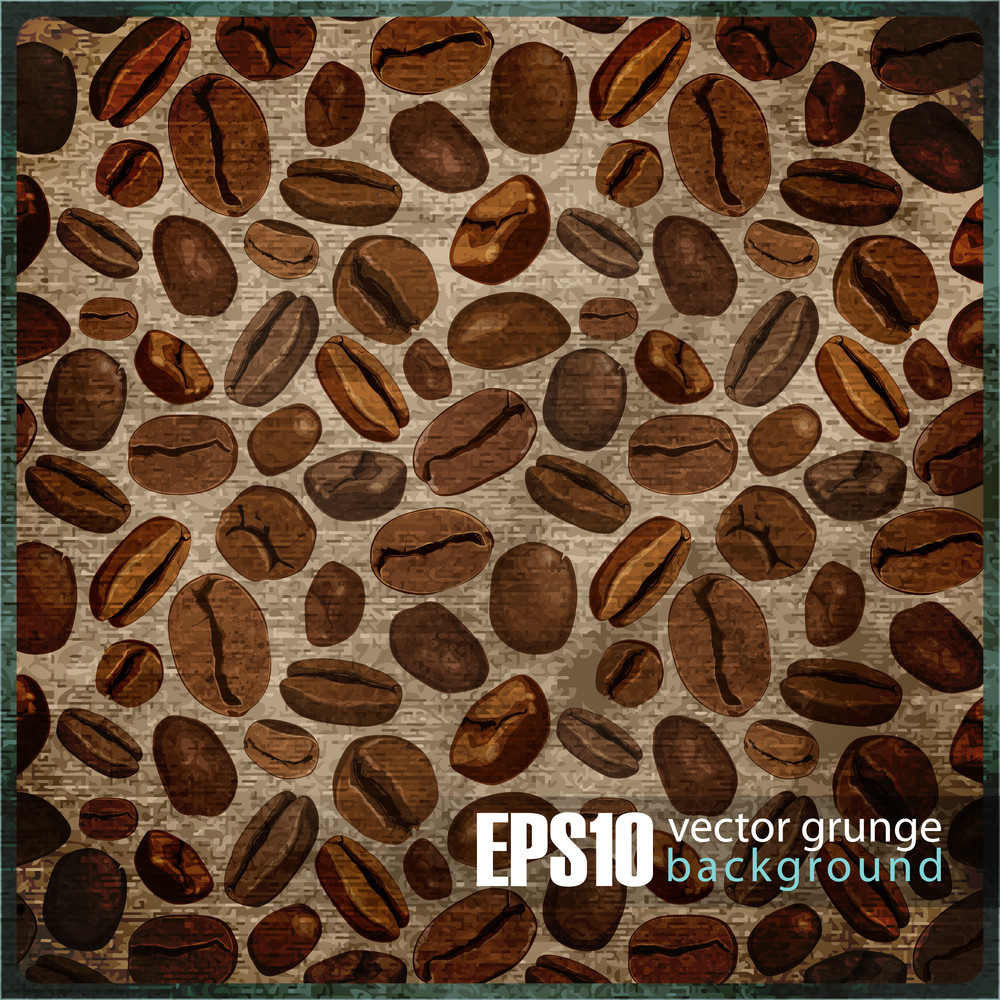 Eps10 Vintage Background With Coffee Beans