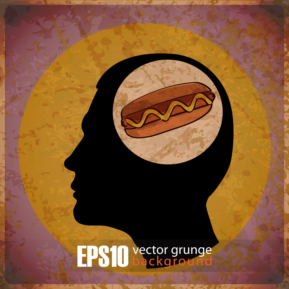 Eps10 Vintage Background With Human Head