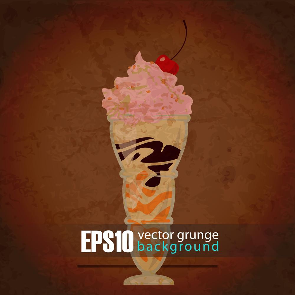 Eps10 Vintage Background With Milkshake