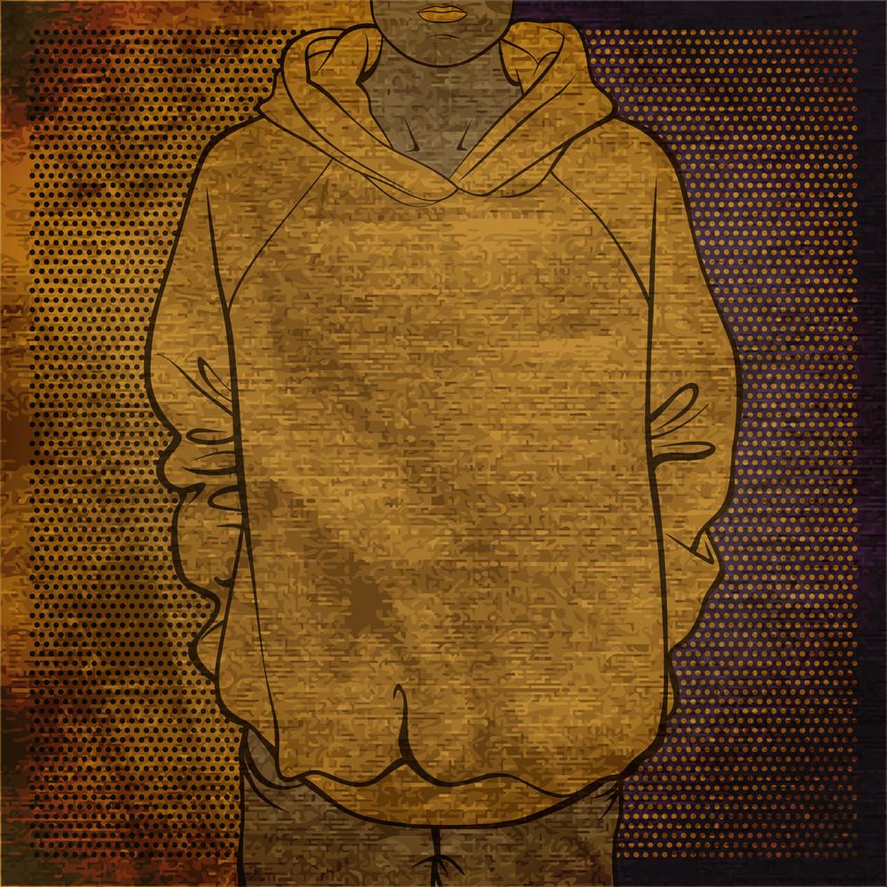 Eps10 Vintage Background With Sweatshirt