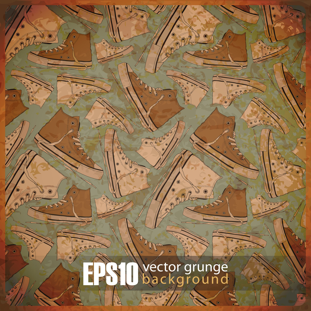 Eps10 Vintage Background With Wootwear
