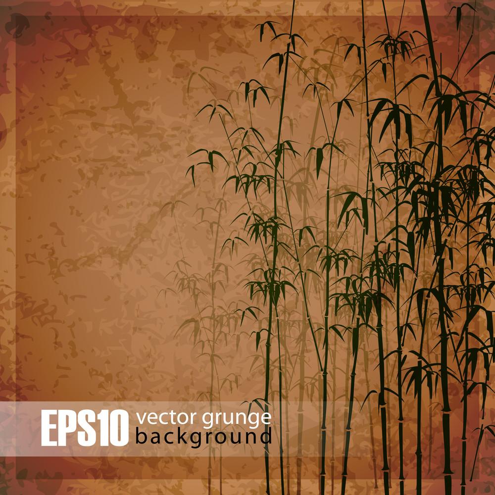 Eps10 Vintage Bamboo Background