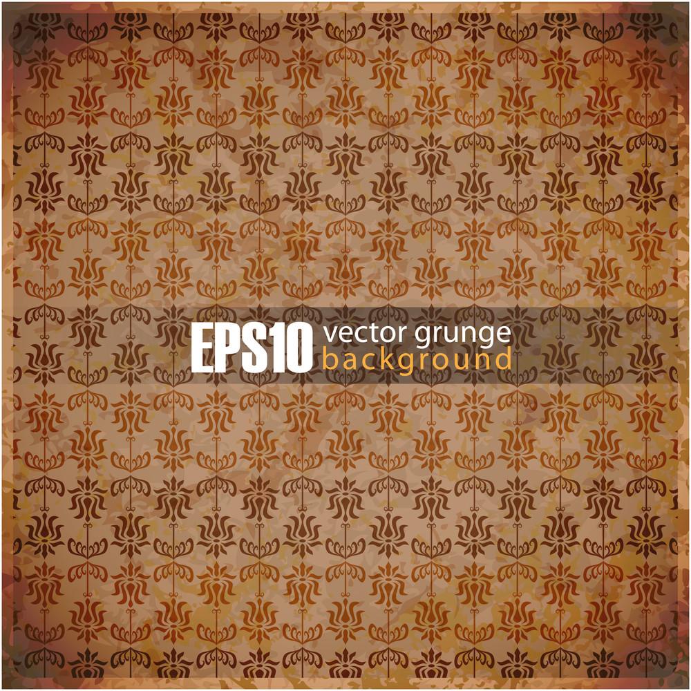 Eps10 Vintage Floral Background