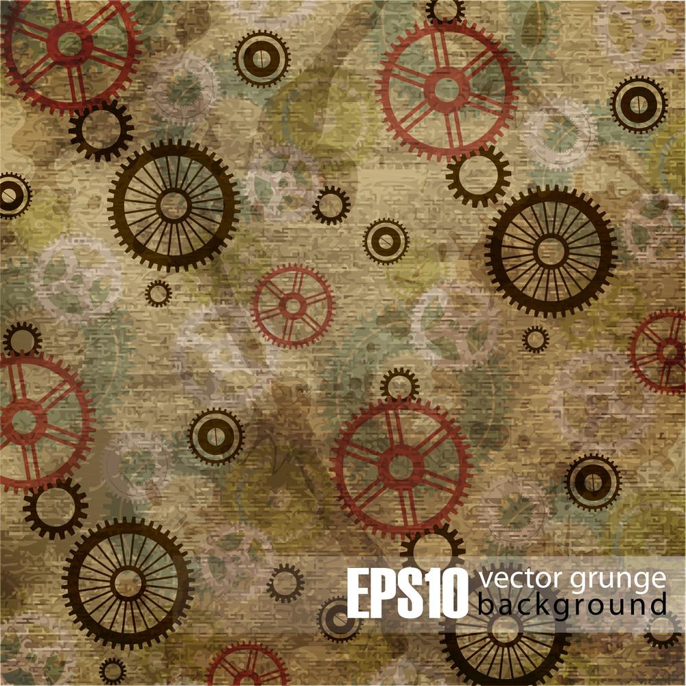 Eps10 Vintage Mechanical Background