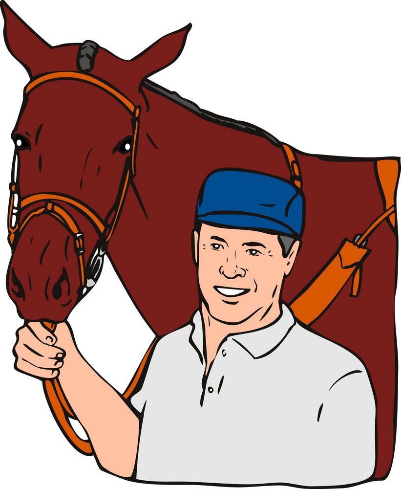Equestrian Horse Retro