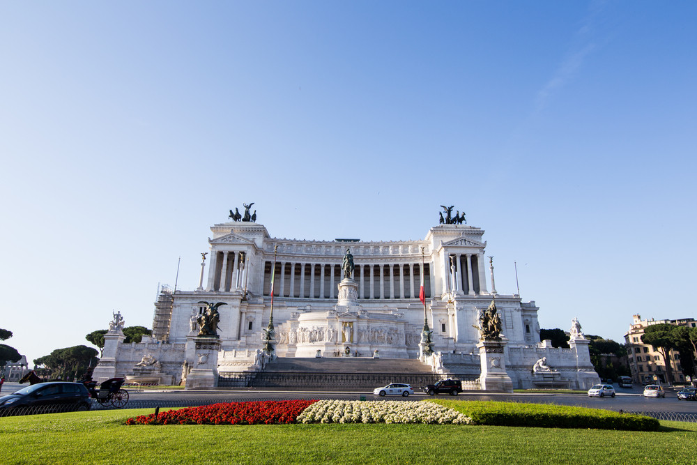Equestrian monument to Victor Emmanuel II near Vittoriano in Rome, Italy