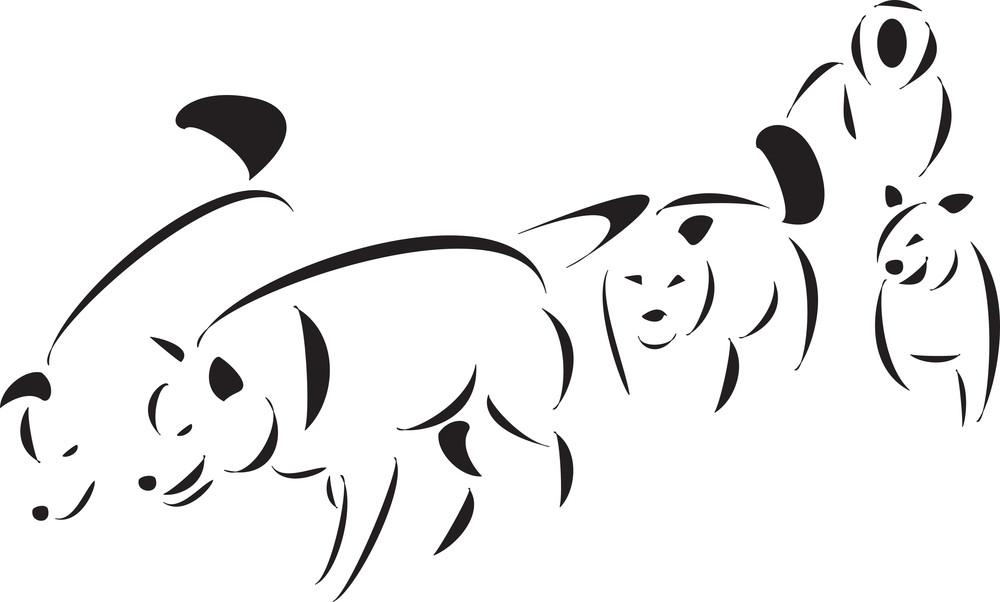 Eskimo With Dog Sled.
