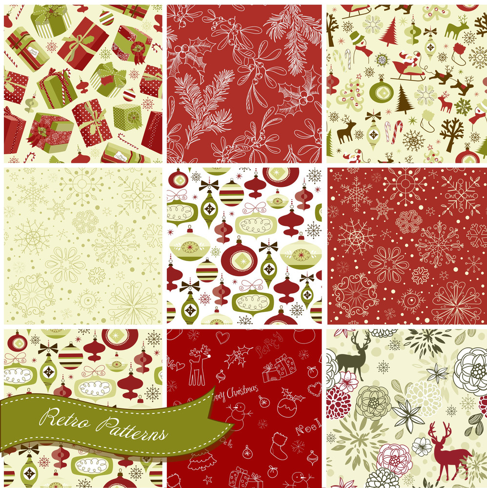 Et Of Christmas Seamless Backgrounds