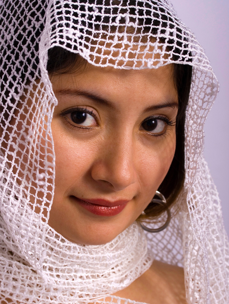 Ethnic Woman With A Headscarf
