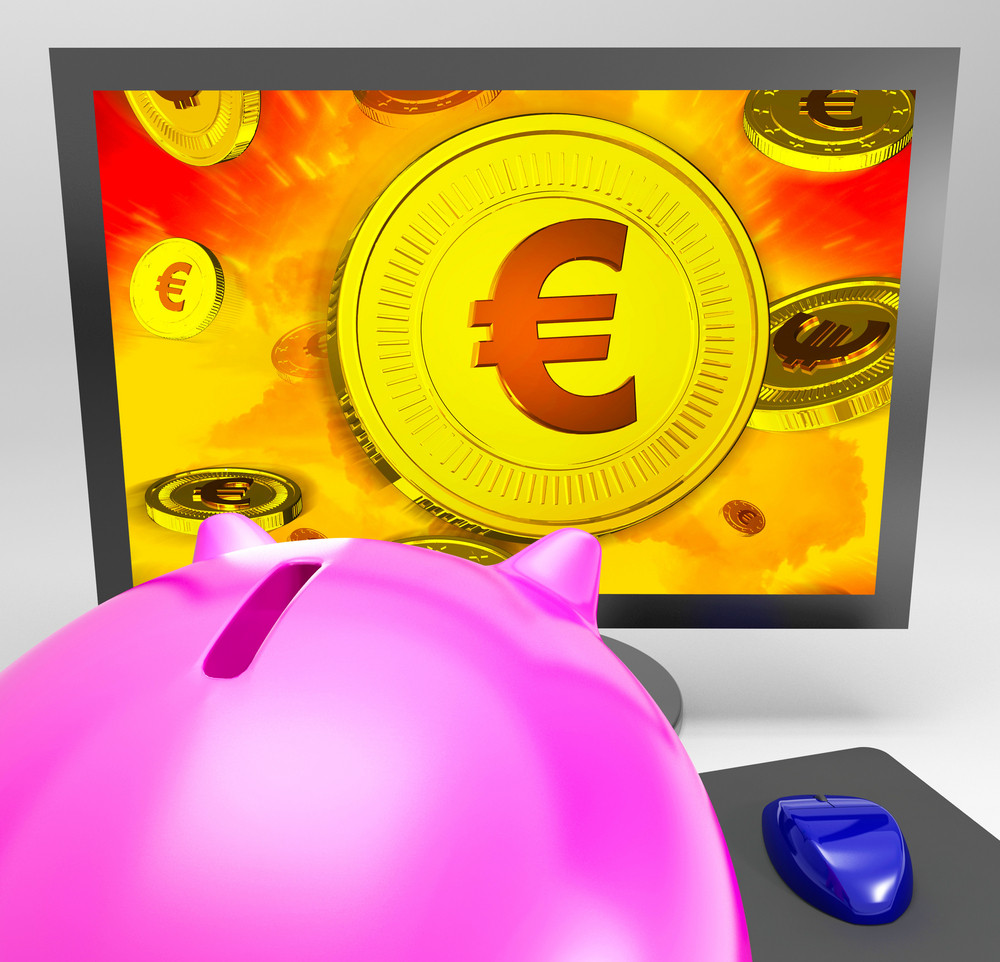 Euro Coin Shows Finance Wealth And Savings
