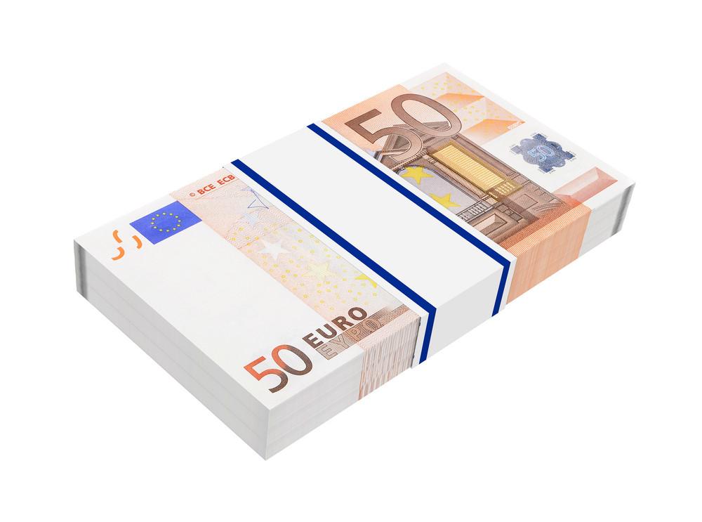Euro Money Isolated On White Background.