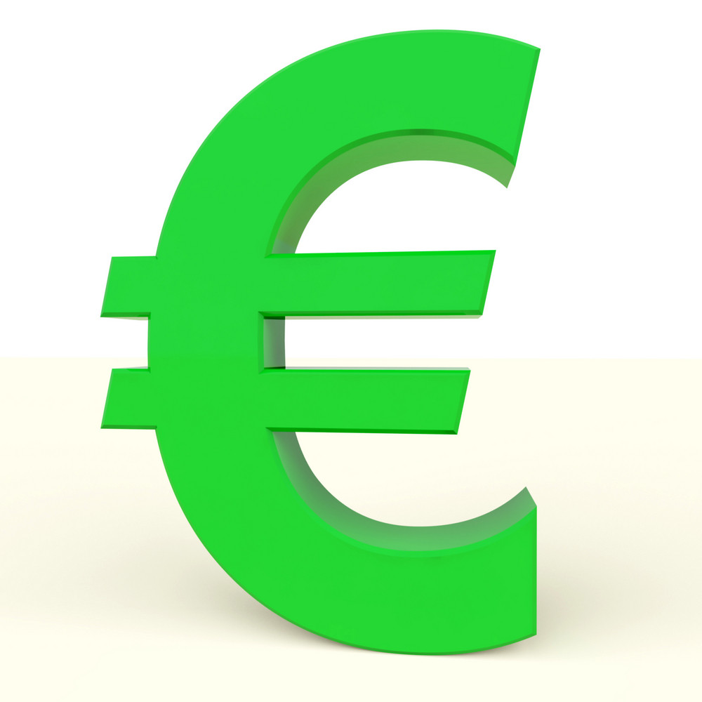 Euro Sign As Symbol For Money Or Wealth In Europe