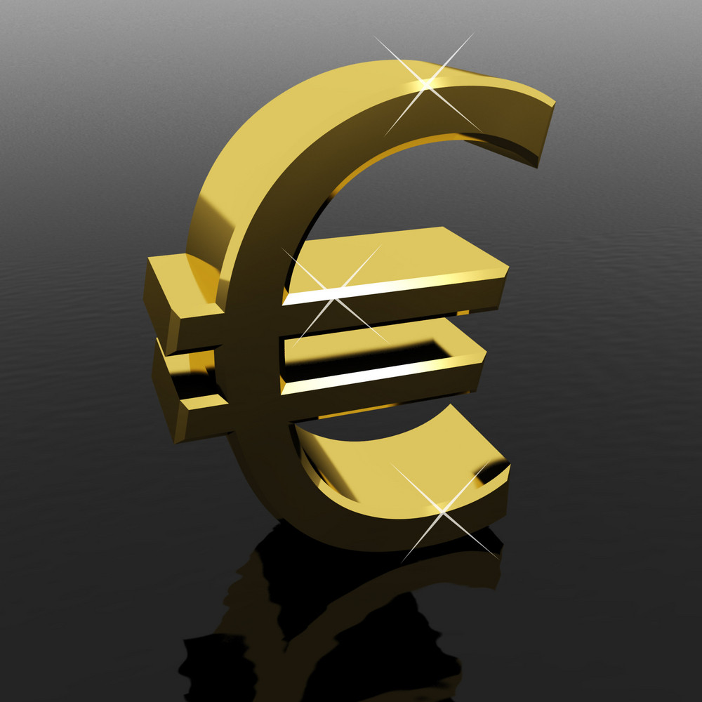 Euro Sign As Symbol For Money Or Wealth