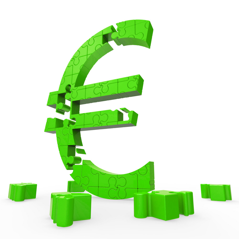 Euro Symbol Shows Financing In Europe