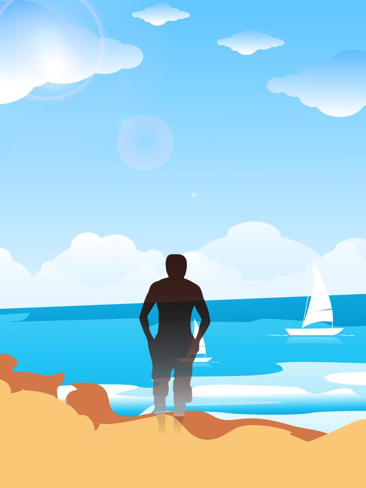 Evening Summer Background At Seaside