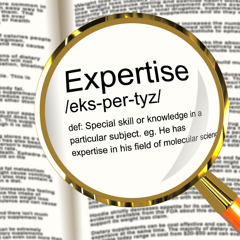 Expertise Definition Magnifier Showing Skills Proficiency And Capabilities