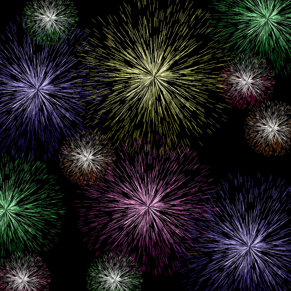 Exploding Fireworks Background For Holiday Or Independence Celebrations