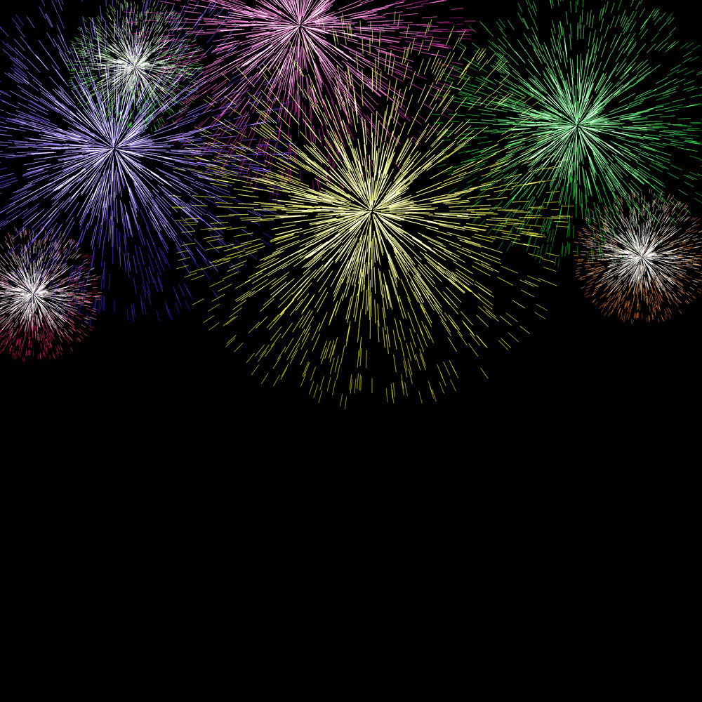Exploding Fireworks Background For New Years Or Independence Celebrations
