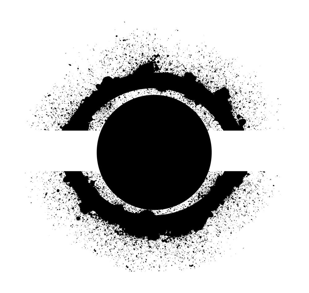 Eye Shaped Circular Design Background Vector
