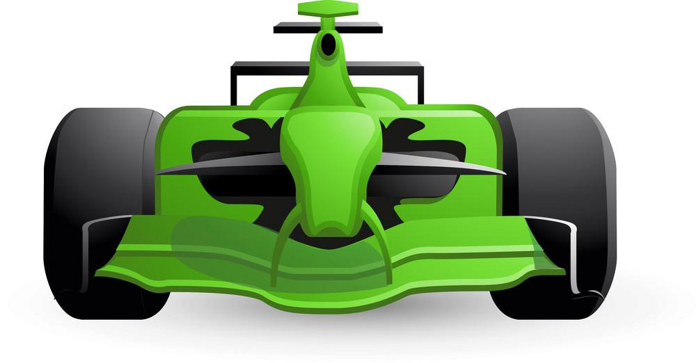 F1 Racecar Green 2 Lite Sports Icon