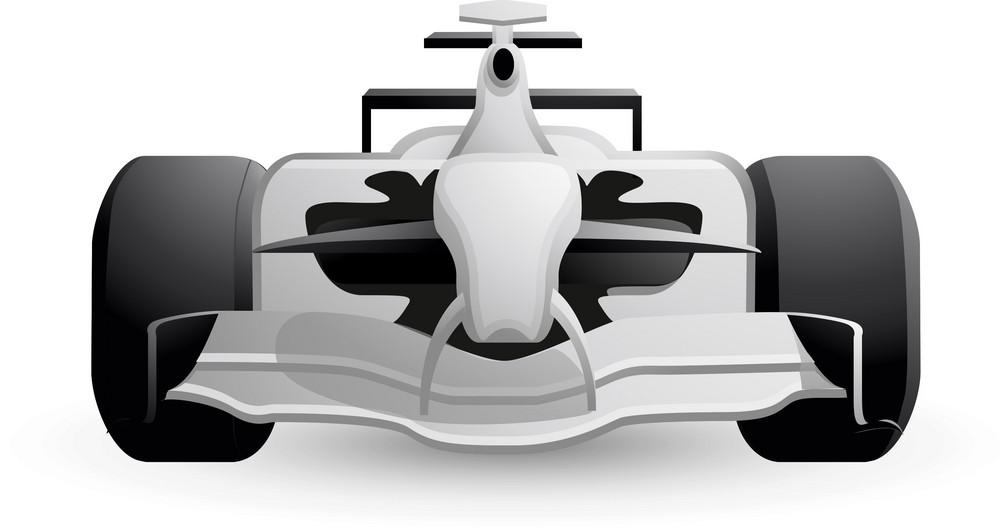 F1 Racecar White Lite Sports Icon