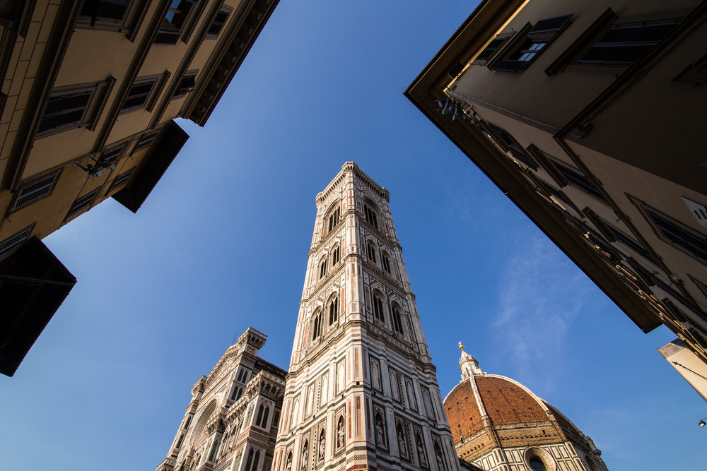 Facade of the Basilica di Santa Maria del Fiore (Basilica of Saint Mary of the Flower), the main church of Florence, Italy