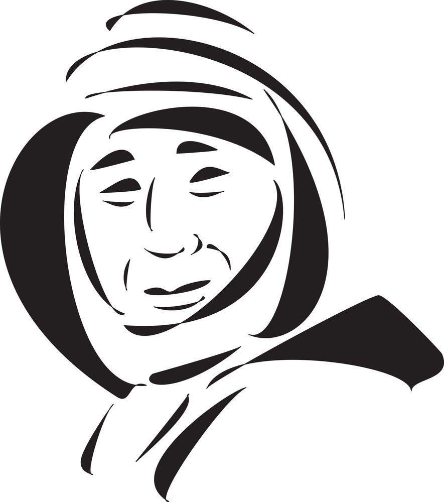 Face Of A Eskimo Man.