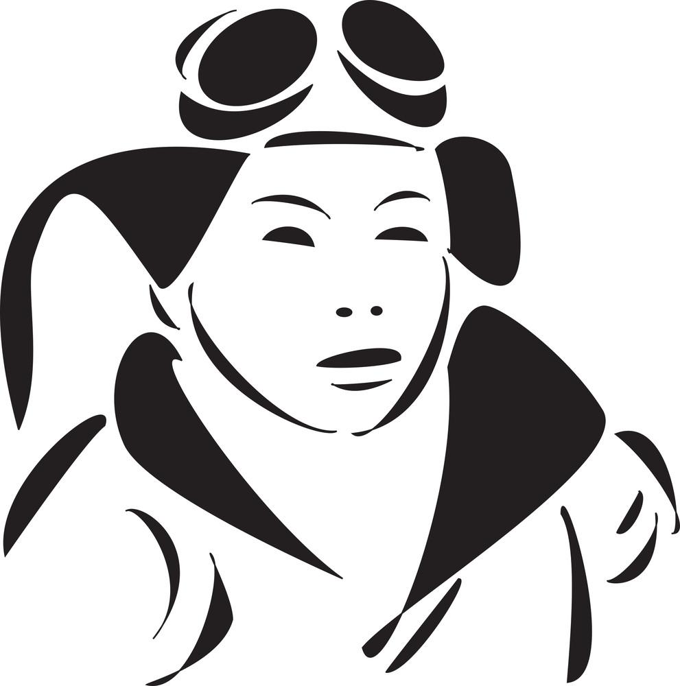 Face Of A Kamikaze Pilot.
