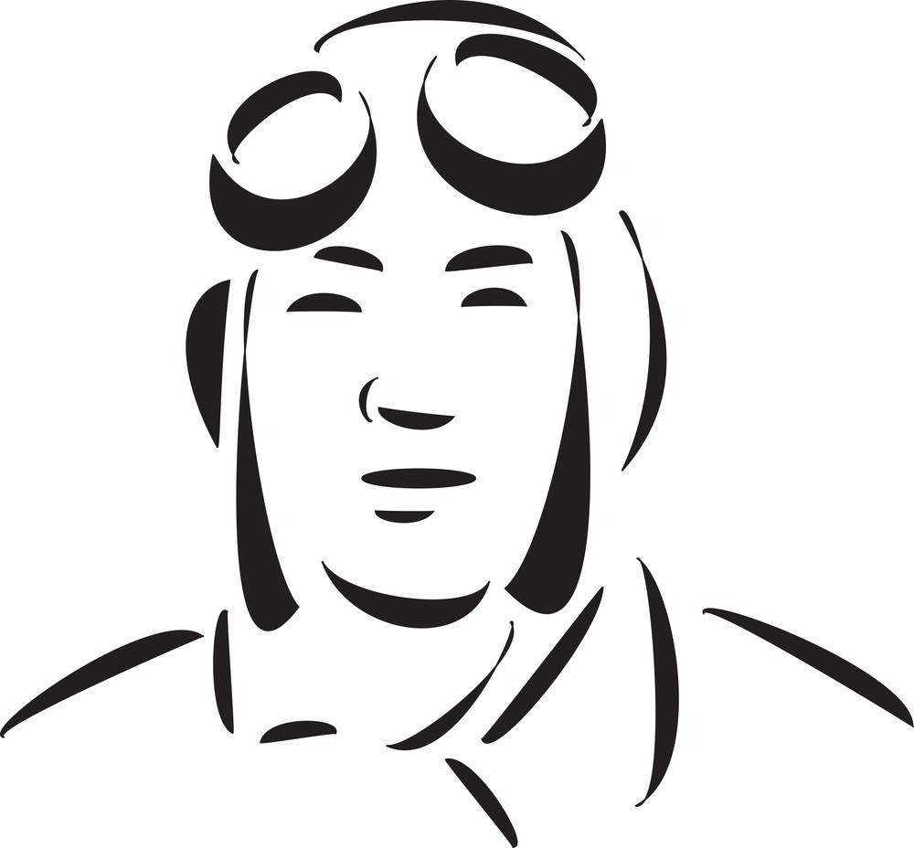 Face Of A Young Kamikaze Pilot.