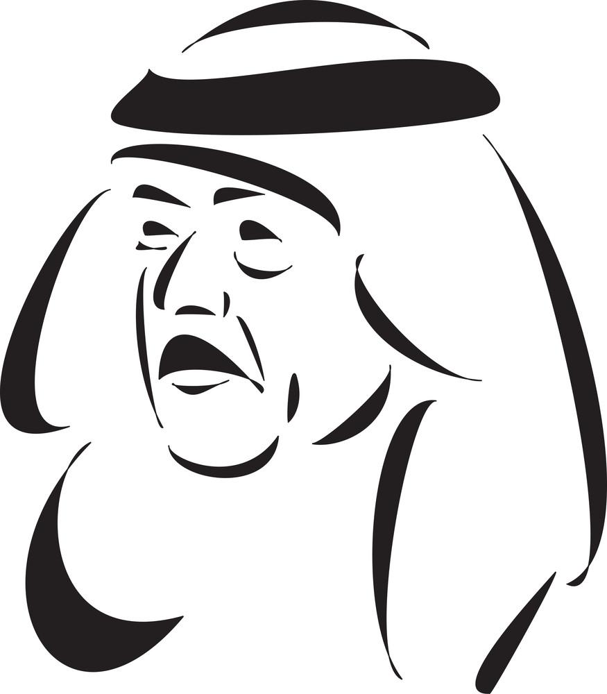 Face Of Dictator Saddam Hussain.