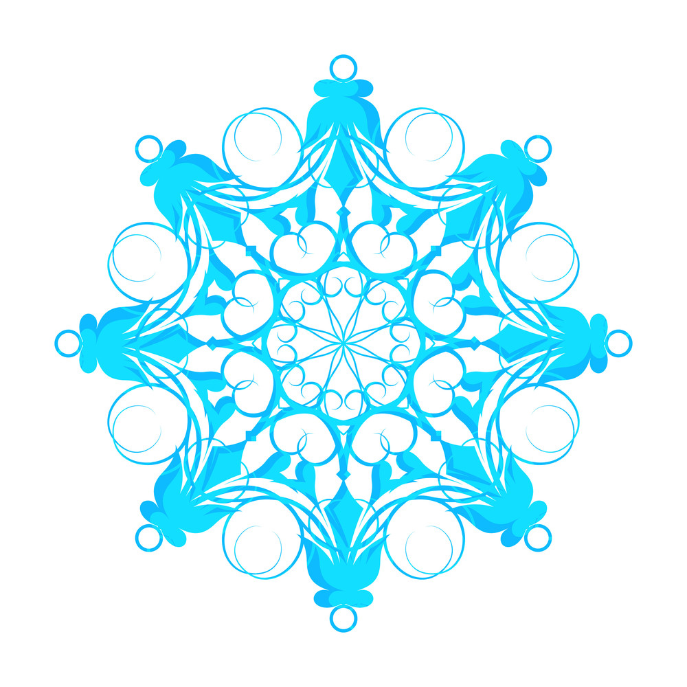 Fancy Floral Snowflake