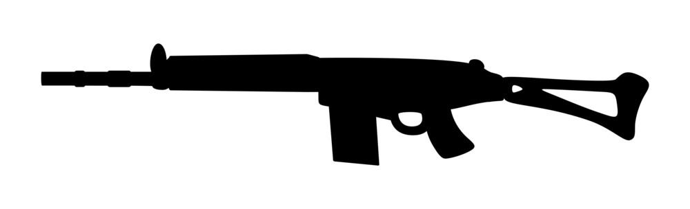 Fancy Gun Silhouette