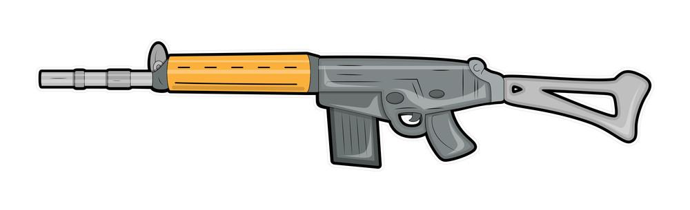 Fancy Gun Vector Illustration