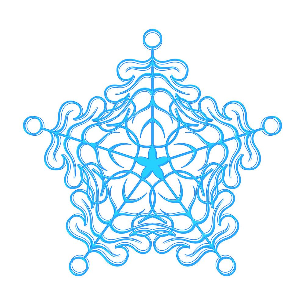 Fancy Snowflake Design