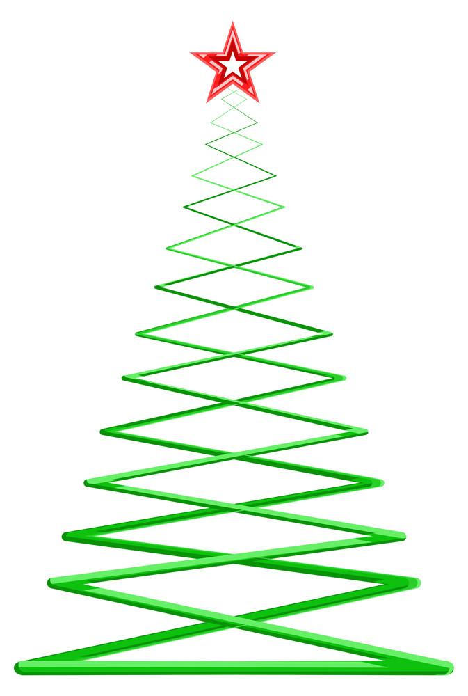 Fantasy Zig Zag Style Christmas Tree