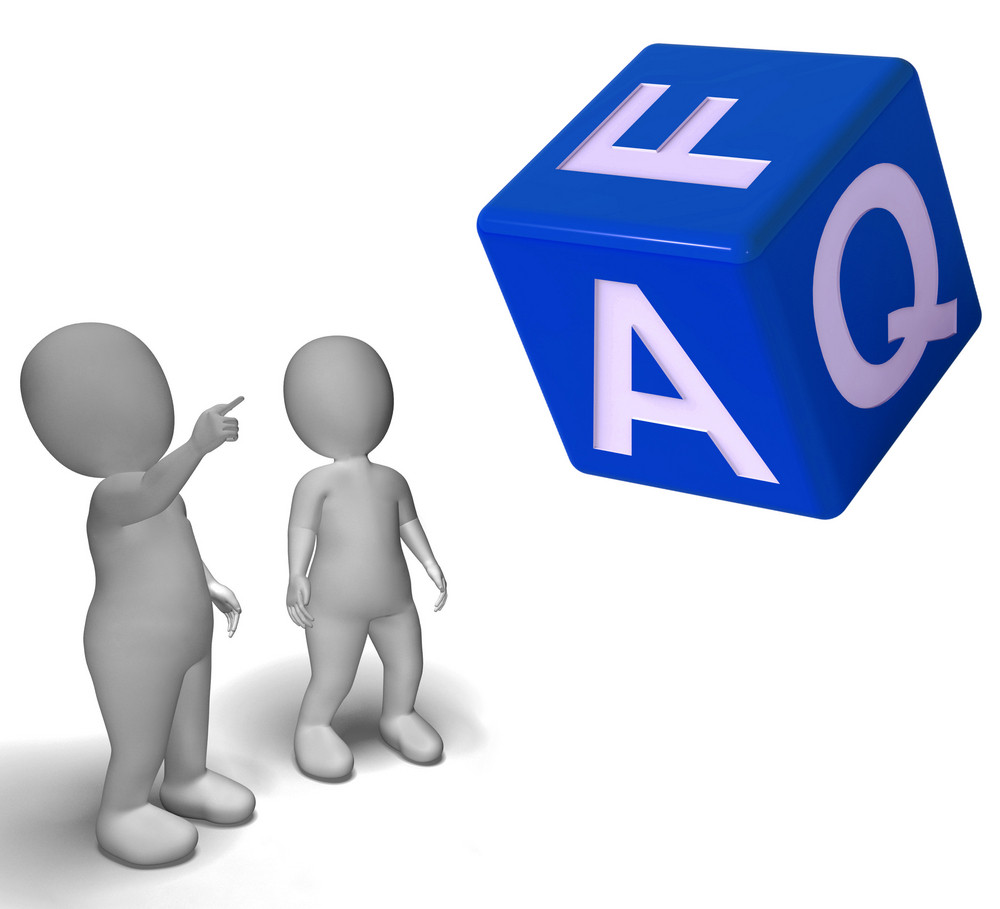 Faq Dice Showing Symbol For Information Or Assisting