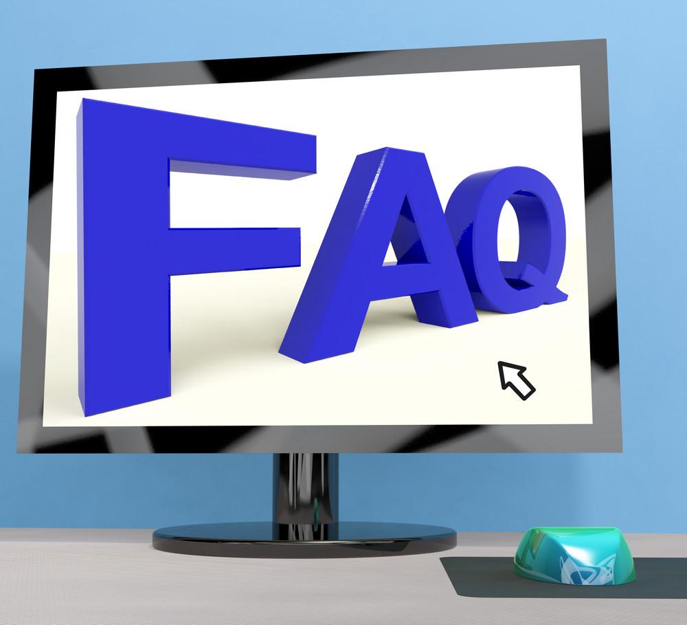 Faq On Computer Screen Shows Online Help