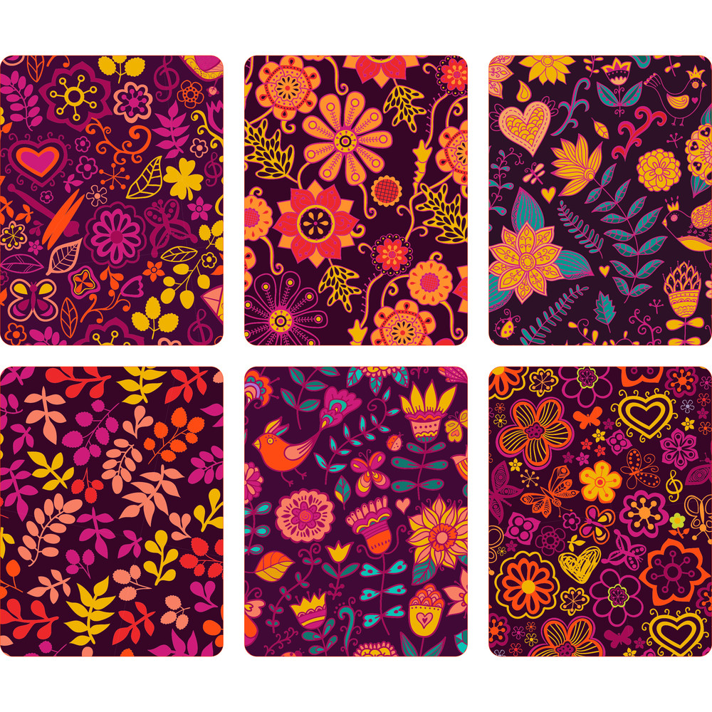Fashion Tablet Skins. Modern Floral Patterns With Flowers To Customize Your Original Device