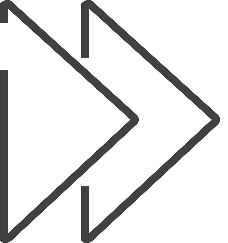 Fast Forward Minimal Icon