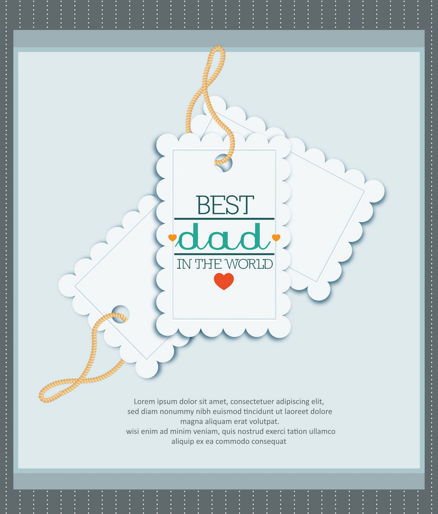 Father's Day Vector Illustration With Vintage Retro Type Font, Sticker, Tag