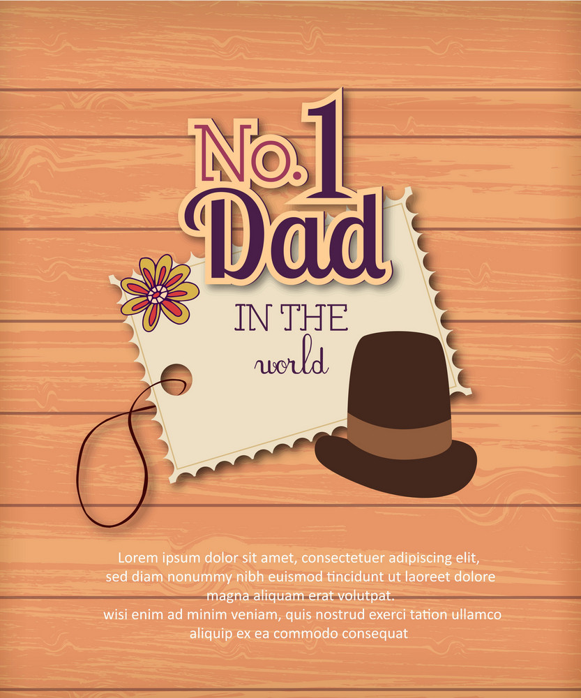 Father's Day Vector Illustration With Vintage Retro Type Font, Sticker, Tag,hat, Wood