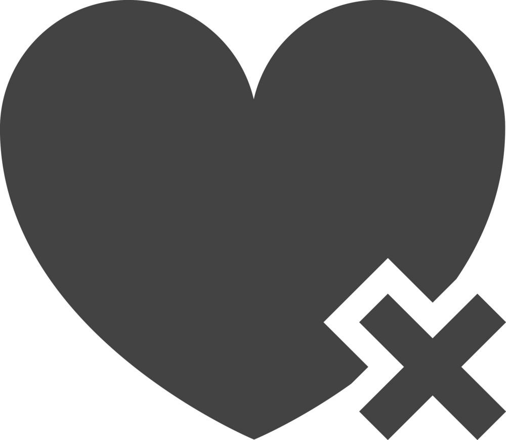 Favorite Delete Glyph Icon